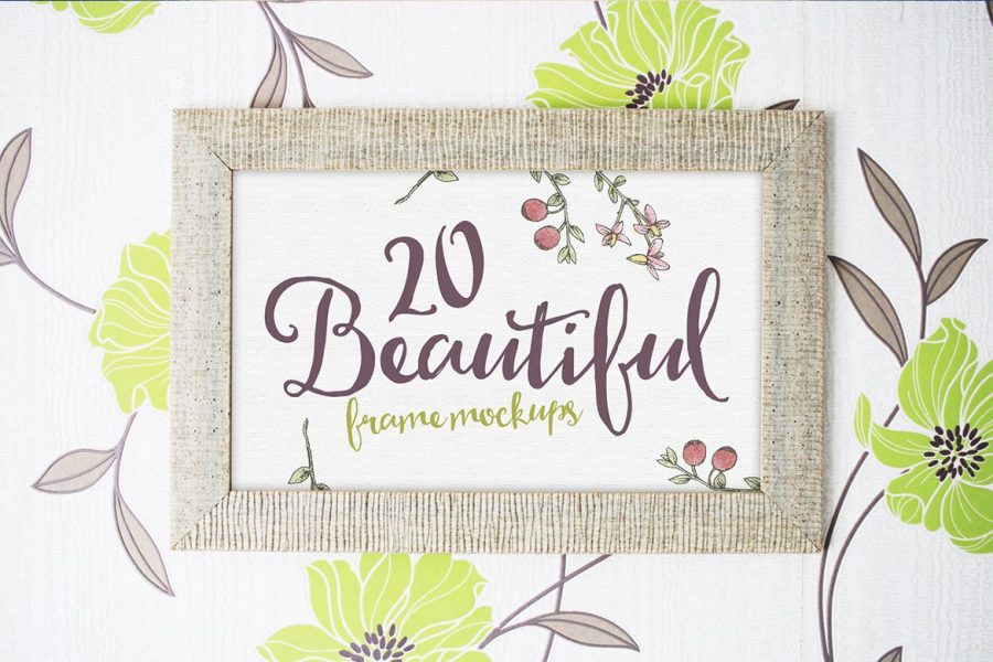 20 Beautiful Frame Mockups by Layerform Design Co