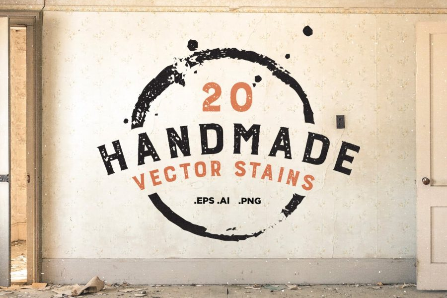20 Handmade Vector Stains by Layerform Design Co