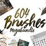 604 Photoshop Brushes Megabundle by Layerform Design Co