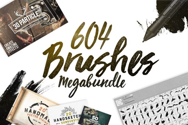 604 Photoshop Brushes Megabundle by Layerform Design Co