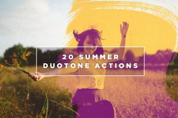 20 Summer Duotone Photoshop Actions by Layerform Design Co