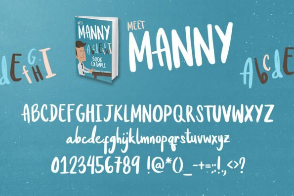 Meet Manny Handcrafted Typeface by Layerform Design Co