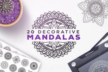 20 Decorative Vector Mandalas by Layerform Design Co