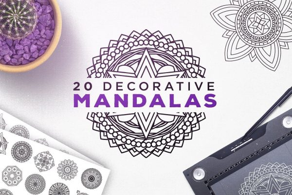20 Decorative Vector Mandalas by Layerform Design Co