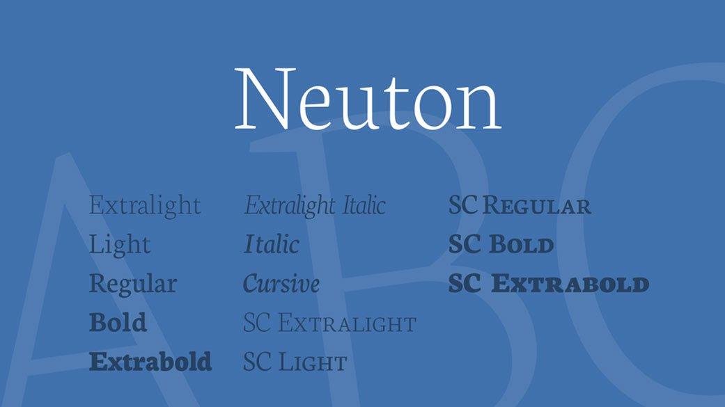 Neuton-Free-Font