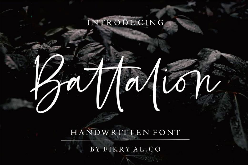 battalion-free-typeface