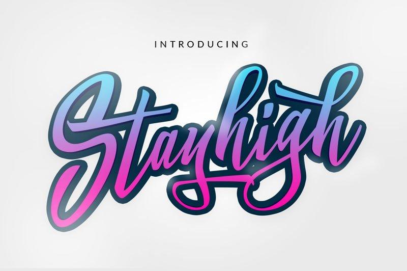 stayhigh-free-font
