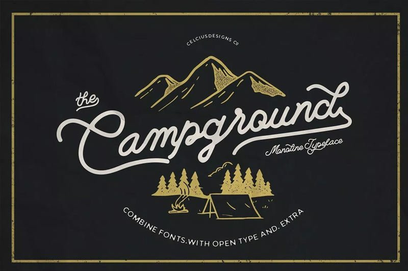 the-campground-free-font-2019
