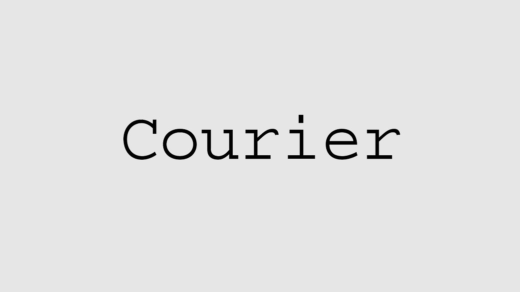 The-Best-Fonts-To-Use-On-Your-Resume-Book-Courier
