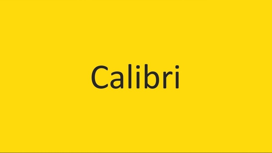 The-Best-Fonts-To-Use-On-Your-Resume-Calibri