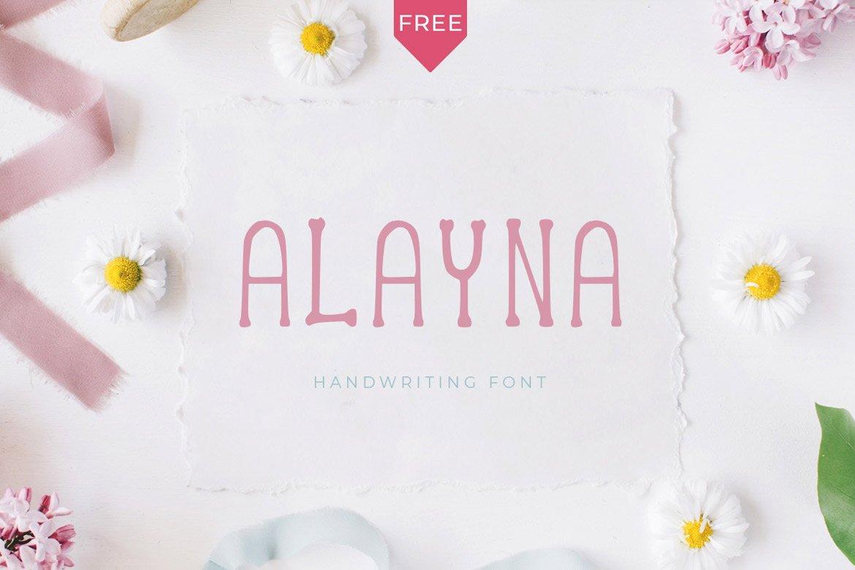 alayna-free-handwritten-font