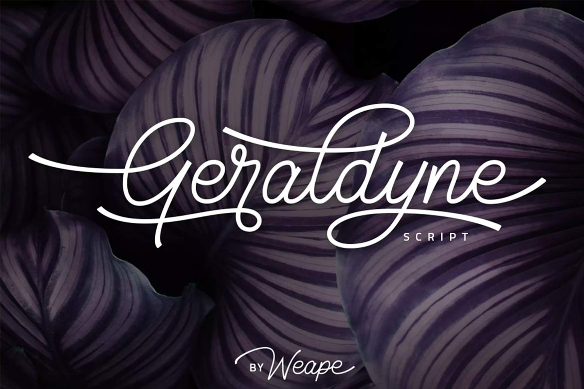 best-script-fonts-on-envato-elements-geraldyne