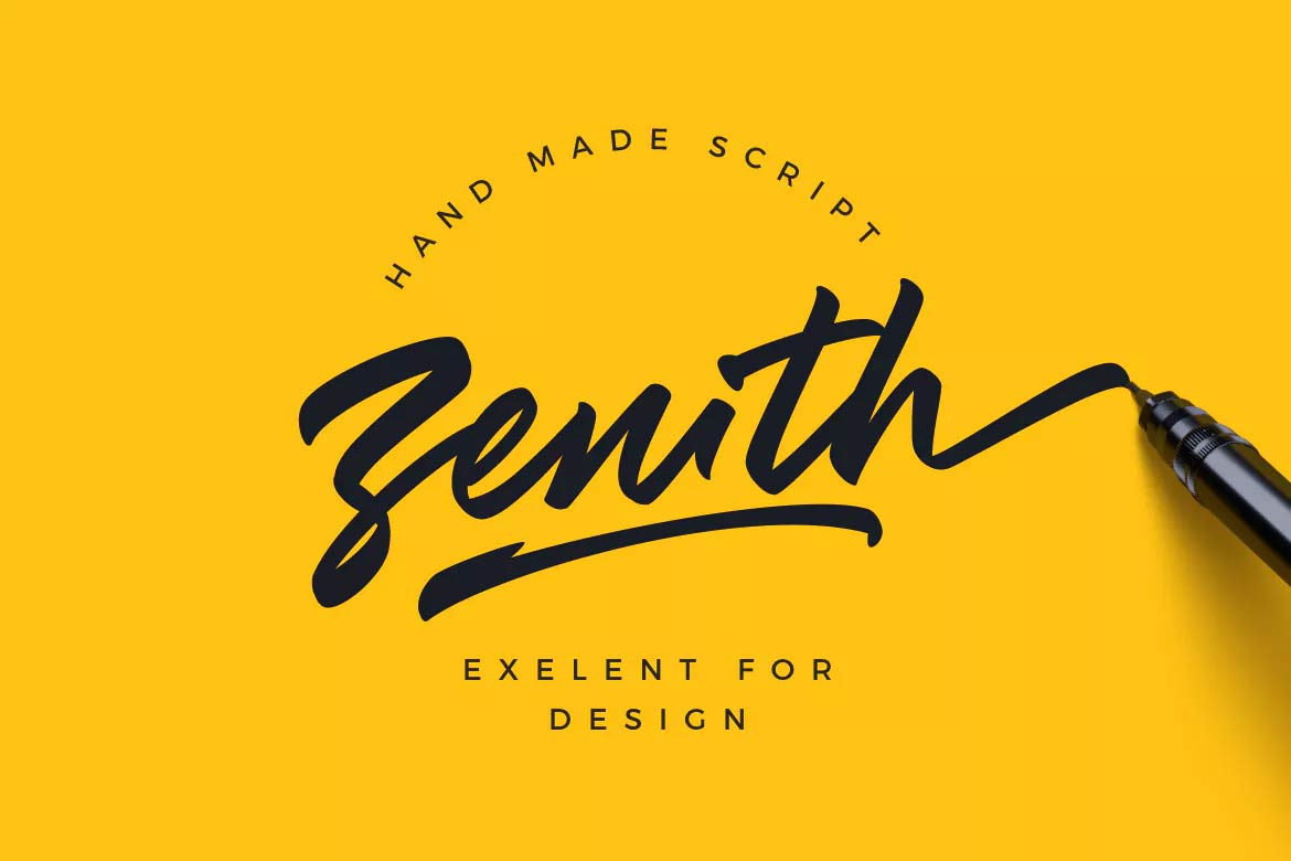 best-script-fonts-on-envato-elements-zenith-font