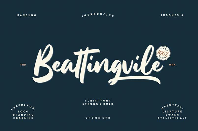 beatingvile-handwriting-font