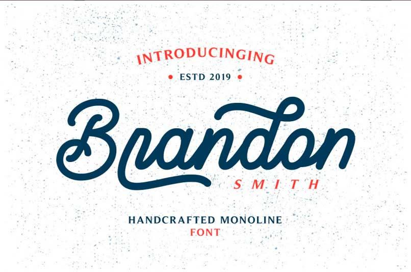 brandon-monoline-handwriting-font