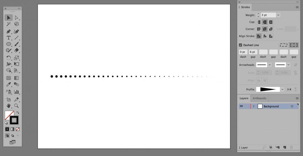 illustrator-dotted-line