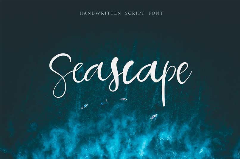 seascape-handwriting-font