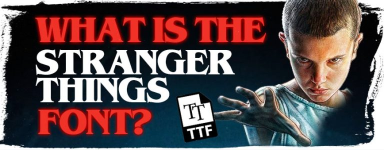 what-is-the-stranger-things-font