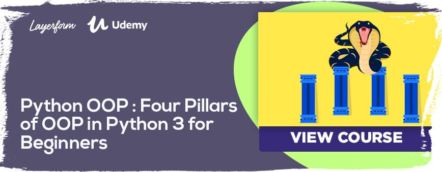 Python-OOP---Four-Pillars-of-OOP-in-Python-3-for-Beginners